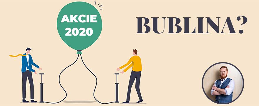 Ceny akcií v roce 2020 výrazně rostly: Nafukuje se bublina?